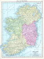 Ireland, World Atlas 1913